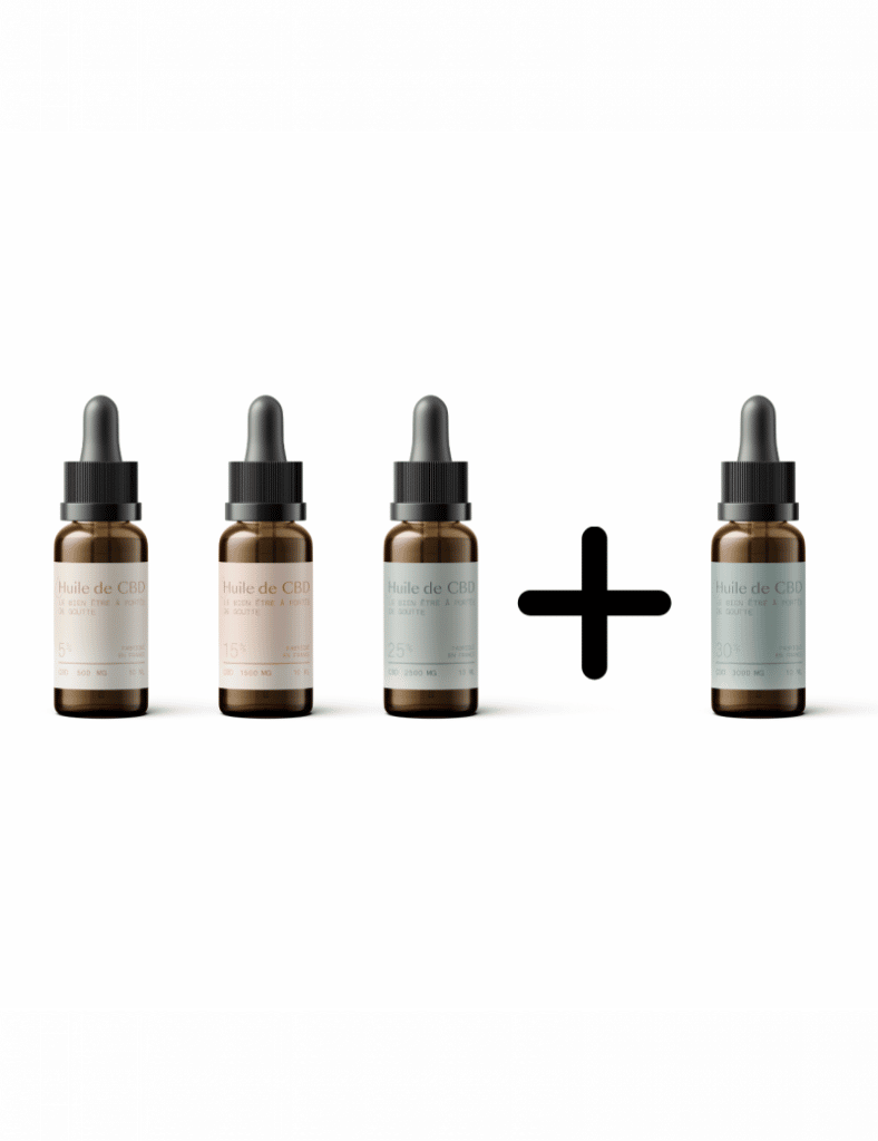 Pack huile de CBD Saveurs CBD